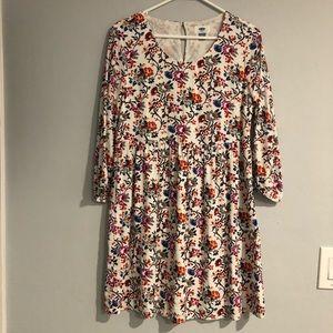 NWOT old navy 3/4 sleeve floral dress